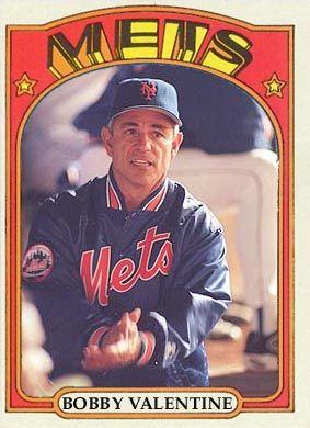 Bobby Valentine 1972 baseball card