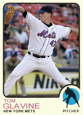 Tom Glavine 1973 baseball card