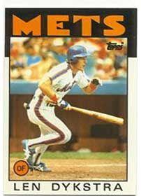 1986 Lenny Dykstra
