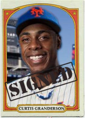 1972 Curtis Granderson ( Free Agent Signing Card)