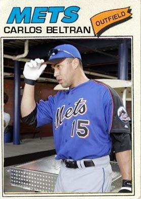 Carlos Beltran 1977 baseball card
