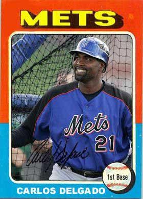 Carlos Delgado 1975 baseball card