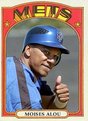 Moises Alou 1972 baseball card